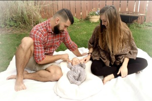 Picture Perfect: Mason, Aubrey, and baby Cora